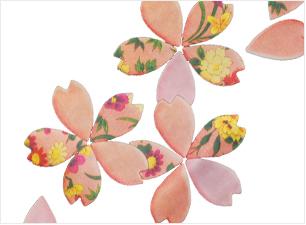 桜シャツの柄(立体感)