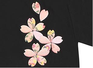 桜シャツ(黒)