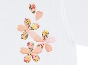 桜シャツ(白)