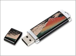 蒔絵USBメモリー(4GB)<br>サイズ:75×25×6mm