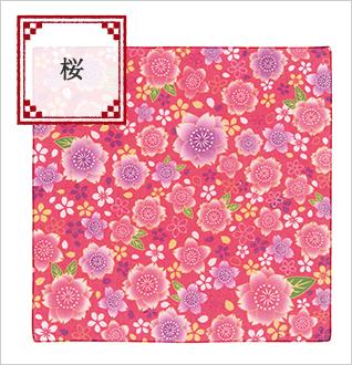 英語説明書つき Oh!みやげニッポンバンダナ 桜
