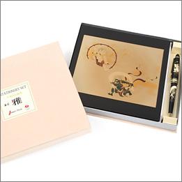 蒔絵風神雷神ステーショナリー2点セット(マウスパッド・ボールペン)