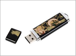 蒔絵USBメモリー(4GB)サイズ:75x25x6mm