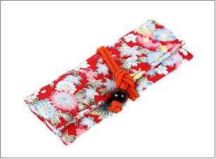 正絹・加賀友禅・USBメモリー入れサイズ:40×105×10mm