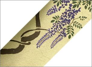 本革 藤の花(絵柄)
