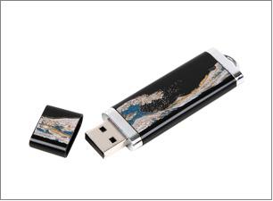 蒔絵USBメモリー(4GB):75x25x6mm
