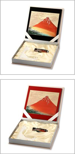 蒔絵ステーショナリー北斎赤富士3点セット(マウスパッド・USBメモリー・額立て)