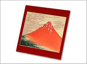 蒔絵マウスパッド(赤)サイズ:175x175x4mm