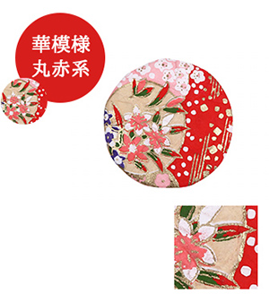 英語説明カード付き-美濃和紙 友禅染めマグネット★日本土産(みやげ)に!
