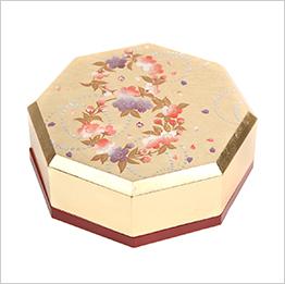 英語説明書つき 山中塗り かりん八角小箱